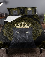 King Panther Art Queen Quilt Bed Set aos-queen-quilt-bed-set-lifestyle-front-02a