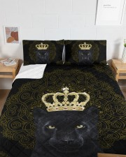 King Panther Art Queen Quilt Bed Set aos-queen-quilt-bed-set-lifestyle-front-05a