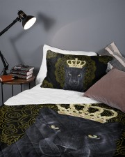 King Panther Art Queen Quilt Bed Set aos-queen-quilt-bed-set-lifestyle-front-09