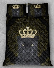 King Panther Art Queen Quilt Bed Set aos-queen-quilt-bed-set-lifestyle-front-11