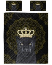 King Panther Art Queen Quilt Bed Set front