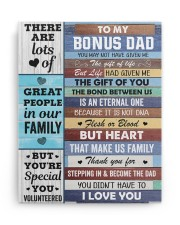 You May Not Have Given Me Daughter To Bonus Dad 11x14 Gallery Wrapped Canvas Prints aos-canvas-pgw-11x14-ghosted-front-02