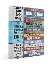 You May Not Have Given Me Daughter To Bonus Dad 11x14 Gallery Wrapped Canvas Prints front