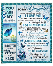 """Never Forget How Much I Love You Mom To Daughter Fleece Blanket - 50"""" x 60"""" front"""