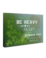 Shamrock May Ur Pockets Be Heavy Ur Heart Be Light 36x24 Gallery Wrapped Canvas Prints front
