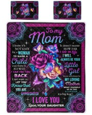 I Know It's Not Easy For A Woman Daughter To Mom Queen Quilt Bed Set front