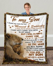 """I Closed My Eyes For But A Moment Mom To Son Fleece Blanket - 50"""" x 60"""" aos-coral-fleece-blanket-50x60-lifestyle-front-01c"""