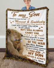 """I Closed My Eyes For But A Moment Mom To Son Fleece Blanket - 50"""" x 60"""" aos-coral-fleece-blanket-50x60-lifestyle-front-02a"""