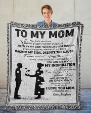 """Personalized U Help Me Close Son To Mom Fleece Blanket - 50"""" x 60"""" aos-coral-fleece-blanket-50x60-lifestyle-front-01"""