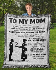 """Personalized U Help Me Close Son To Mom Fleece Blanket - 50"""" x 60"""" aos-coral-fleece-blanket-50x60-lifestyle-front-01a"""