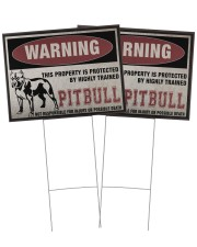 Pitbull dog this property is protected 24x18 Yard Sign aos-yard-sign-24x18-ghosted-front-02