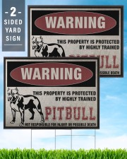 Pitbull dog this property is protected 24x18 Yard Sign aos-yard-sign-24x18-lifestyle-front-32