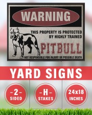 Pitbull dog this property is protected 24x18 Yard Sign aos-yard-sign-24x18-lifestyle-front-33