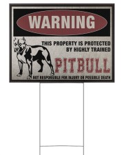 Pitbull dog this property is protected 24x18 Yard Sign front