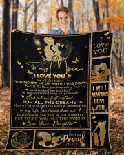 """I Love You For All The Times Daughter To Mom Fleece Blanket - 50"""" x 60"""" aos-coral-fleece-blanket-50x60-lifestyle-front-01b"""