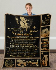 """I Love You For All The Times Daughter To Mom Fleece Blanket - 50"""" x 60"""" aos-coral-fleece-blanket-50x60-lifestyle-front-01c"""