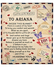"""Personalized Inside This Blanket Dad To Daughter Fleece Blanket - 50"""" x 60"""" front"""