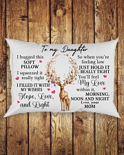 Mom To Daughter I Hugged This Soft Pillow Rectangular Pillowcase aos-pillow-rectangle-front-lifestyle-2