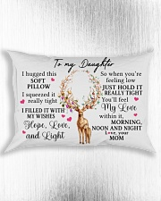 Mom To Daughter I Hugged This Soft Pillow Rectangular Pillowcase aos-pillow-rectangle-front-lifestyle-4