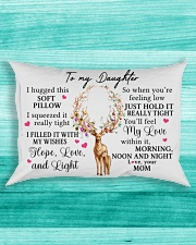 Mom To Daughter I Hugged This Soft Pillow Rectangular Pillowcase aos-pillow-rectangle-front-lifestyle-5