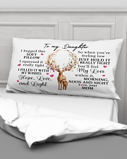 Mom To Daughter I Hugged This Soft Pillow Rectangular Pillowcase aos-pillow-rectangular-front-lifestyle-03