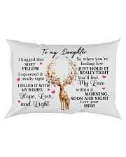 Mom To Daughter I Hugged This Soft Pillow Rectangular Pillowcase front