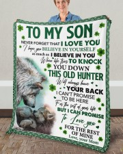 """Never Forget That I Love You Mom To Son Fleece Blanket - 50"""" x 60"""" aos-coral-fleece-blanket-50x60-lifestyle-front-02a"""