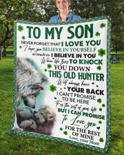 """Never Forget That I Love You Mom To Son Fleece Blanket - 50"""" x 60"""" aos-coral-fleece-blanket-50x60-lifestyle-front-02b"""
