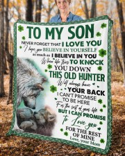 """Never Forget That I Love You Mom To Son Fleece Blanket - 50"""" x 60"""" aos-coral-fleece-blanket-50x60-lifestyle-front-02c"""