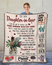"""I Did Not Get To Choose you To Daughter-In-Law Fleece Blanket - 50"""" x 60"""" aos-coral-fleece-blanket-50x60-lifestyle-front-01"""