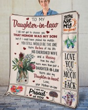 """I Did Not Get To Choose you To Daughter-In-Law Fleece Blanket - 50"""" x 60"""" aos-coral-fleece-blanket-50x60-lifestyle-front-02"""
