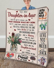 """I Did Not Get To Choose you To Daughter-In-Law Fleece Blanket - 50"""" x 60"""" aos-coral-fleece-blanket-50x60-lifestyle-front-02a"""