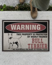 """Bull this property is protected Doormat 22.5"""" x 15""""  aos-doormat-22-5x15-lifestyle-front-01"""