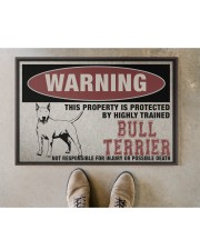 """Bull this property is protected Doormat 22.5"""" x 15""""  aos-doormat-22-5x15-lifestyle-front-04"""