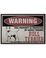 """Bull this property is protected Doormat 22.5"""" x 15""""  front"""
