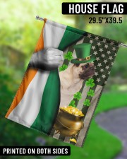 """Lucky Dog Shamrock Patrick's Day 29.5""""x39.5"""" House Flag aos-house-flag-29-5-x-39-5-ghosted-lifestyle-13"""