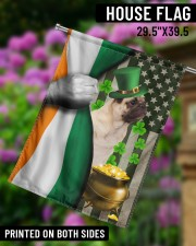 """Lucky Dog Shamrock Patrick's Day 29.5""""x39.5"""" House Flag aos-house-flag-29-5-x-39-5-ghosted-lifestyle-14"""