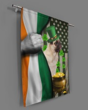 """Lucky Dog Shamrock Patrick's Day 29.5""""x39.5"""" House Flag aos-house-flag-29-5-x-39-5-ghosted-lifestyle-18"""