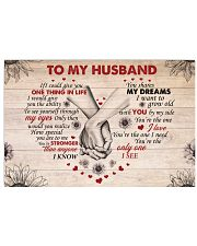 If I Could Give You One Thing In Life To Husband 17x11 Poster front