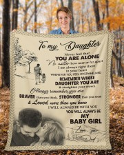 """Never Forget That I Love You Dad To Daughter Fleece Blanket - 50"""" x 60"""" aos-coral-fleece-blanket-50x60-lifestyle-front-01b"""