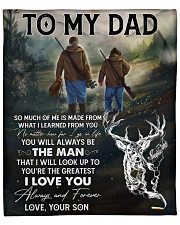 """So Much Of Me Is Made From What I Learned - To Dad Fleece Blanket - 50"""" x 60"""" front"""
