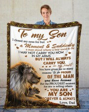 """I Closed My Eyes For But A Moment Dad To Son  Fleece Blanket - 50"""" x 60"""" aos-coral-fleece-blanket-50x60-lifestyle-front-01"""