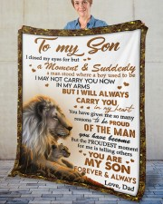 """I Closed My Eyes For But A Moment Dad To Son  Fleece Blanket - 50"""" x 60"""" aos-coral-fleece-blanket-50x60-lifestyle-front-02"""