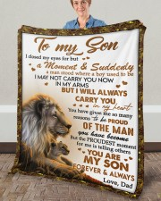"""I Closed My Eyes For But A Moment Dad To Son  Fleece Blanket - 50"""" x 60"""" aos-coral-fleece-blanket-50x60-lifestyle-front-02a"""