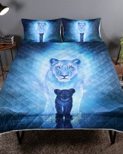 Lion Mom and Baby Queen Quilt Bed Set aos-queen-quilt-bed-set-lifestyle-front-01a