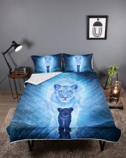 Lion Mom and Baby Queen Quilt Bed Set aos-queen-quilt-bed-set-lifestyle-front-02