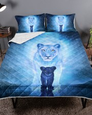 Lion Mom and Baby Queen Quilt Bed Set aos-queen-quilt-bed-set-lifestyle-front-02a