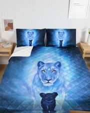 Lion Mom and Baby Queen Quilt Bed Set aos-queen-quilt-bed-set-lifestyle-front-05a