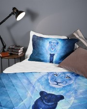 Lion Mom and Baby Queen Quilt Bed Set aos-queen-quilt-bed-set-lifestyle-front-09