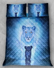 Lion Mom and Baby Queen Quilt Bed Set aos-queen-quilt-bed-set-lifestyle-front-11